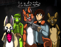FNAF:Ask Ronnie the Squirrel and friends by Cynderthedragon5768