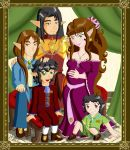 Albertine Family Portrait by Mynhphrah