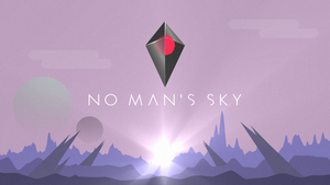 No Man's Sky wallpaper purple planet by Blue-Staple-Studios