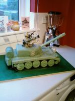 Another view of Tank Cake by chefkemp