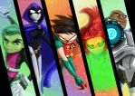 Teen Titans by Penny-Dragon