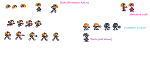 Shade the Echidna Sprites by GlaviusSoul