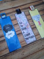 TFIOS,Looking For Alaska and Paper Towns bookmarks by InsaneJellyBean95