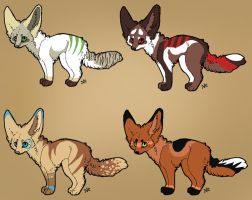 Closed Fennec Adopts by ChocolateParadise