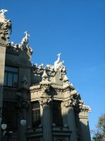 House with chimaeras 3 by PrisonerOfIce