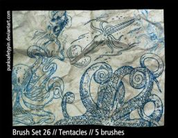 Brush Set 26 - Tentacles by punksafetypin