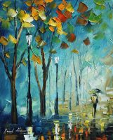 LIGHT FOG - LEONID AFREMOV by Leonidafremov