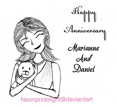 Happy anniversary to Marianne and Daniel by neonpridelight