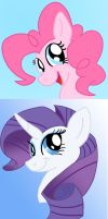 PinkiePie and Rarity by Konsumer
