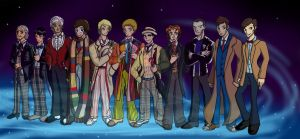 Doctor Who - The Faces of The Doctor by Chillguydraws