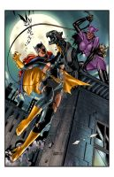 Batgirl_Catwoman by blewh