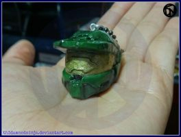 Master Chief helmet pendant by Th3DamnedNinja