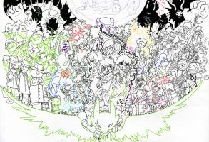 homestuck tribute - lineart by Valerei