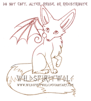 Winged Fox Mini Sketch Commish by WildSpiritWolf