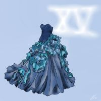 Quinceanera dress desing by Xichigo-muffin-chanX