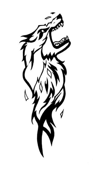 Wolf Tattoo Design Poster by doonidesigns