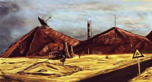 post-apocalyptic landscape by niwet