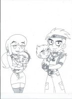 The Spicer Family (uncolored) by XSreiki772