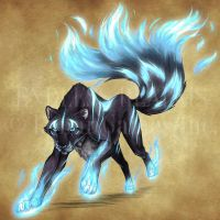 Endless Realms bestiary - Spirit Panther by jocarra