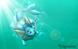 Vaporeon Wallpaper by CorruptTempest