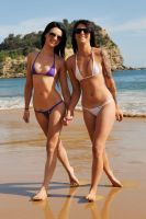 Tara and Justine - beach walk 1 by wildplaces