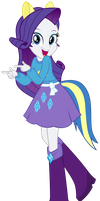 Rarity (Human) - Wondercolts Attire by CaliAzian