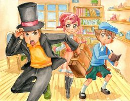 Professor Layton cracks the case! by sonialeong