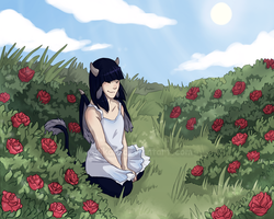 The roses in a dream by Naikah
