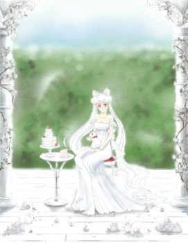 white rabbits in the gardens - P.L.Serenity by ChibiRikku