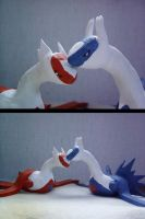 Latias and Latios in Love by SilverShadowHare