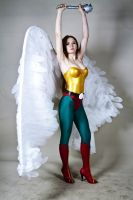 Cosplay Hawk Girl Justice League by AsherWarr