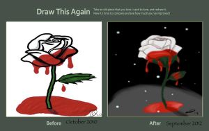 Bleeding Rose Then and Now by brenin3