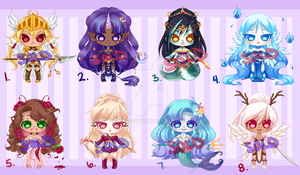 Cutie Adopts: Mythological-ish: CLOSED by RaineSeryn