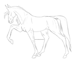 STOCK LINEART - Gaited Horse by chaoticXinsane