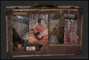 Wild Women of the Wood...assemblage by hummbuzz
