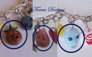 Deku Goron and Zora Mask Charms ZELDA Custom made by TorresDesigns