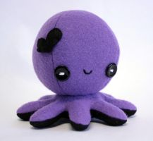 Purple valentine octopus plush by jaynedanger