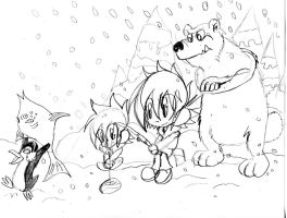 Aaron: Ice fishing sketch by Armonsterz