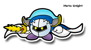 Paper Meta Knight by MechanicalOven