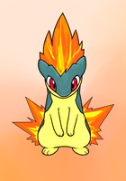 #156 Quilava - Volcano Pokemon by Kboomz