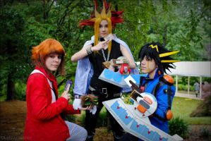 AN 2011: YuGiOh Protags by SakiRee