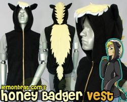 Honey Badger Hoodie by lemonbrat