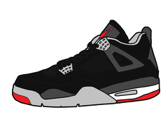 Jordan 4 'Bred' Sketch by MattisamazingPS