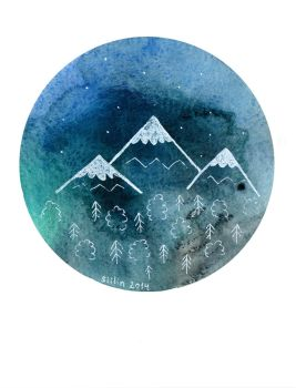 Misty mountains by Siilin