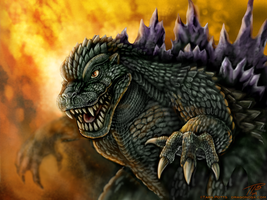 Godzilla 2000 Portrait by DragonosX