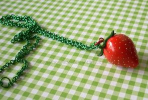 Strawberry Necklace by CantankerousCupcake