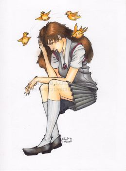 Hermione and the Birds by TinyQ