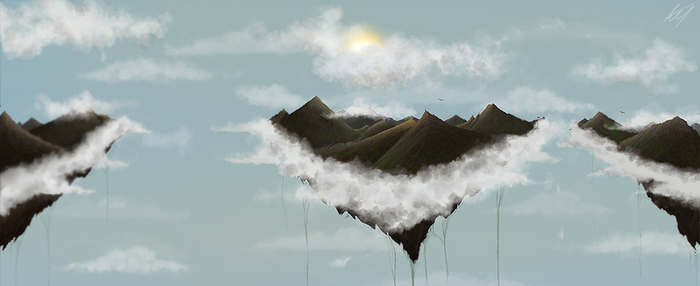 Flying Mountains by Mad96