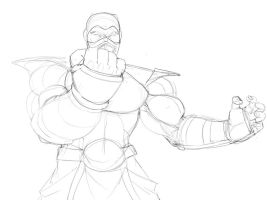 Sub Zero Rough Sketch by 4hoursleep