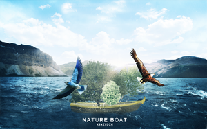 Nature boat blue version by Unbot
